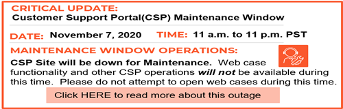 CSP maintenance