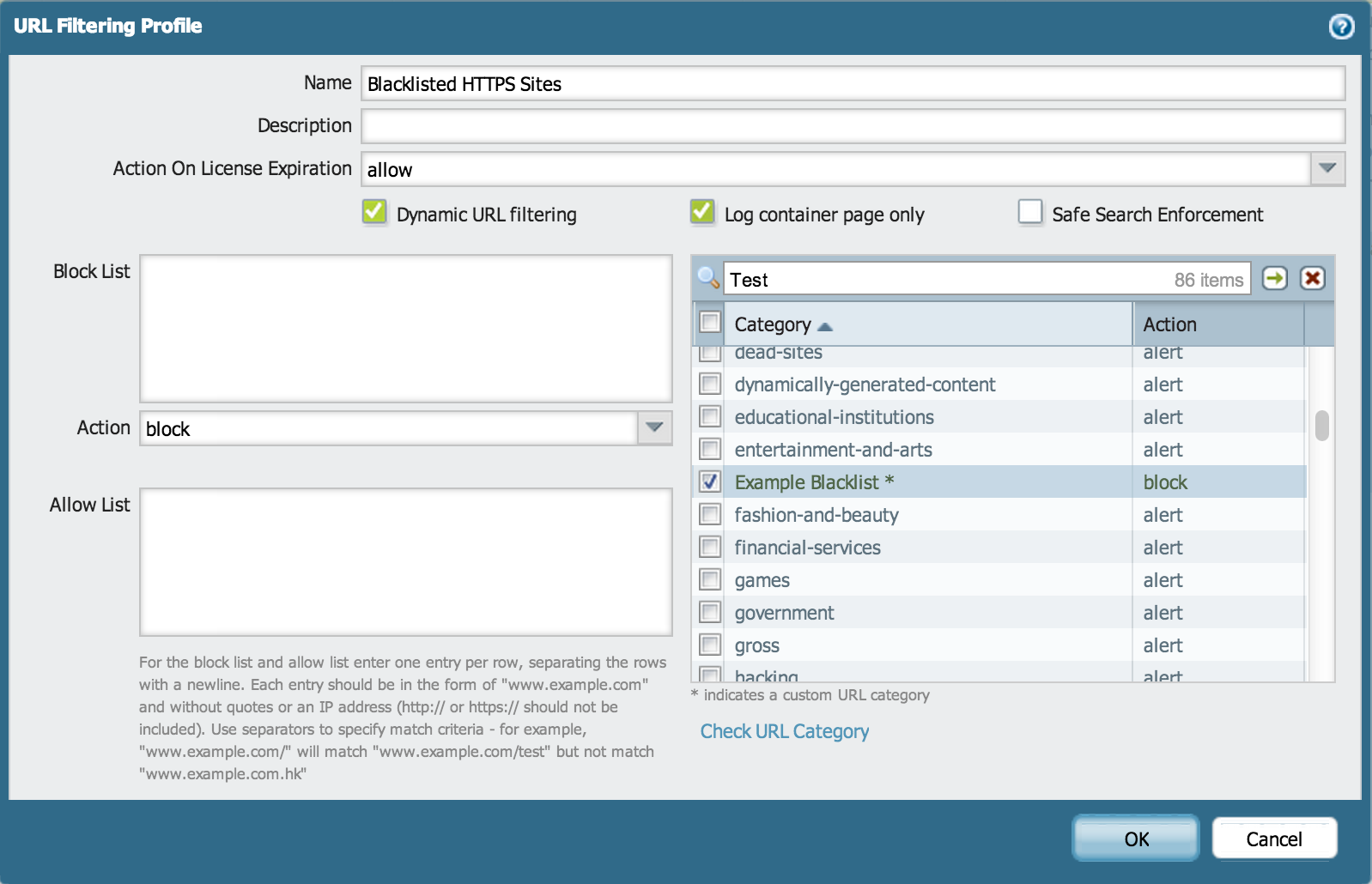 Palo Alto Networks Knowledgebase: How to Block a Specific