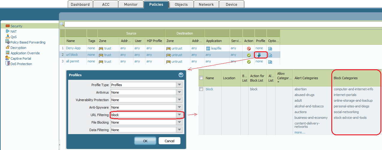 Palo alto Networks security policy Best practices configuration