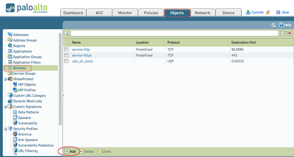 Palo Alto Networks Knowledgebase: How to Configure a Policy to Use a