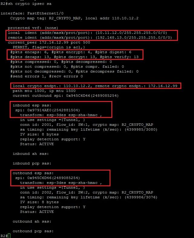 how to use show crypto ipsec sa