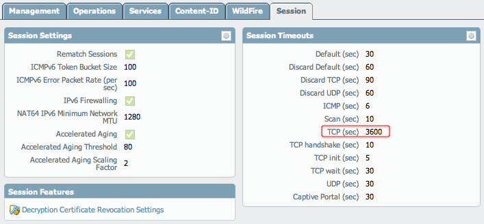 Palo Alto Networks Knowledgebase: Short TCP Session Timeout