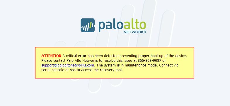 Live Community - PA-200 fails bootup after hard power outage - Live