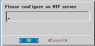 Screenshot of Please Config an NTP Server