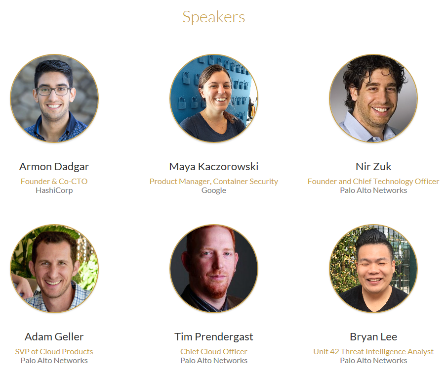 Image of the six key speakers