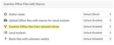 Examine Office Files from Network Drives