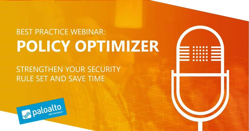 Banner for Best Practices Webinar: Policy Optimizer