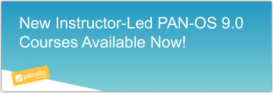 Graphic Banner PAN-OS 9.0. Palo Alto Networks Education
