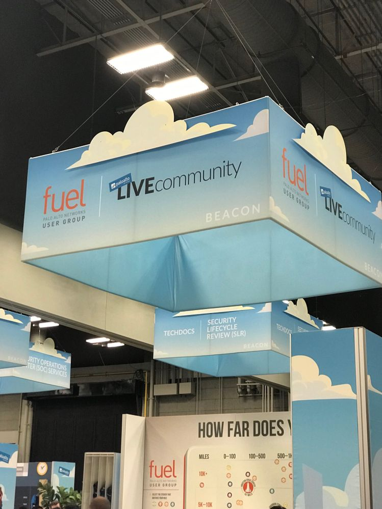 LIVEcommunity and Fuel booths at Ignite 2019