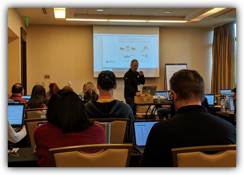 2019 NICERC conference: Thomas Trevethan, Palo Alto Networks Academy Training Engineer.