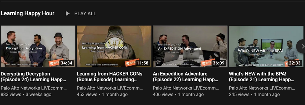 The Learning Happy Hour playlist on the LIVEcommunity YouTube channel bears a great responsibility for the channel's success.