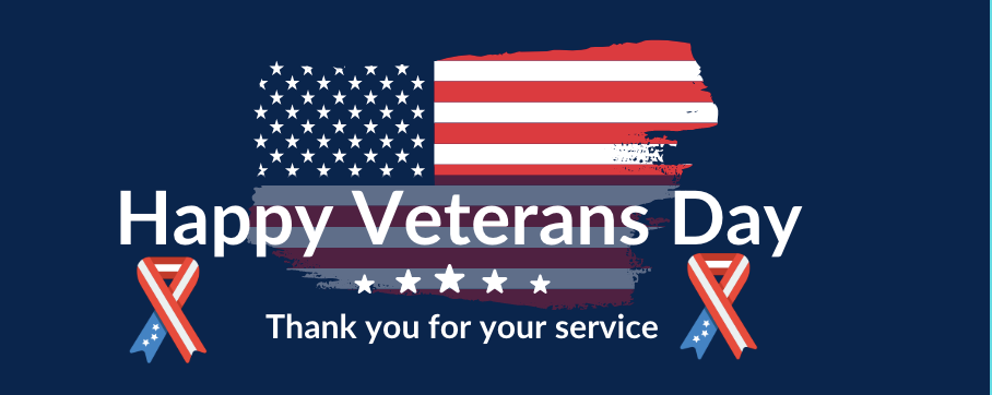 Happy Veterans Day. Thank you for your service.