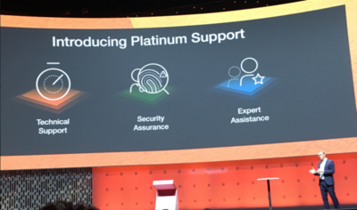 Christian Hentschel, SVP of EMEA announced at Ignite Europe the new platinum support offering.