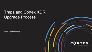 Traps and Cortex XDR Upgrade Process