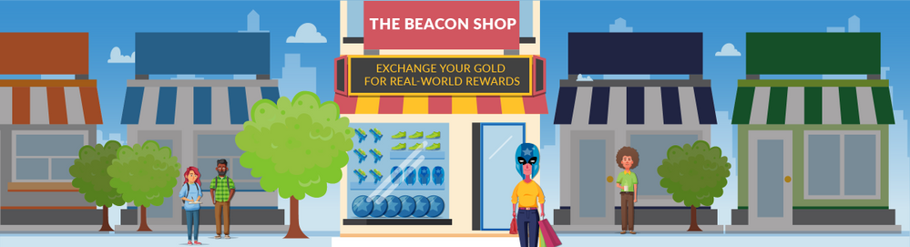 The Beacon Shop – Exchange your gold for real-world rewards!