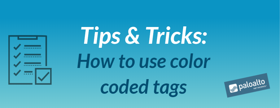 Tips & Tricks - How to use color coded tags.