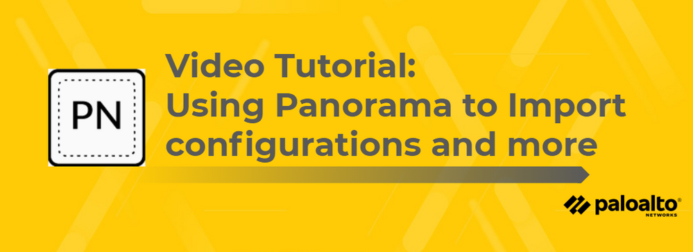 Video Tutorial: Using Panorama to Import Configurations and More