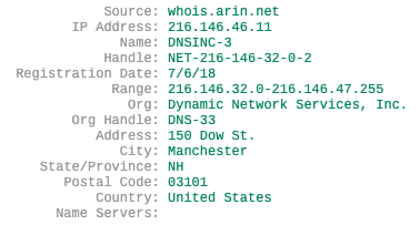 whois lookup for IP address
