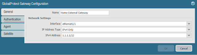 GlobalProtect Gateway Configuration