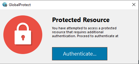 GlobalProtect - Protected Resource