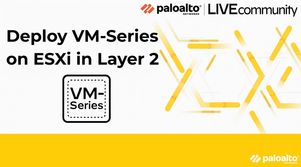 Deploy VM-Series on ESXi in Layer 2