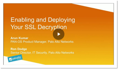 Enabling and Deploying SSL Decryption
