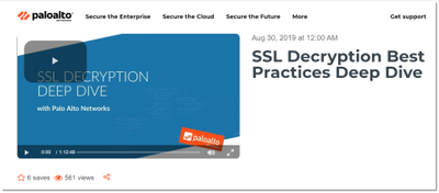 SSL Decryption Best Practices webinar