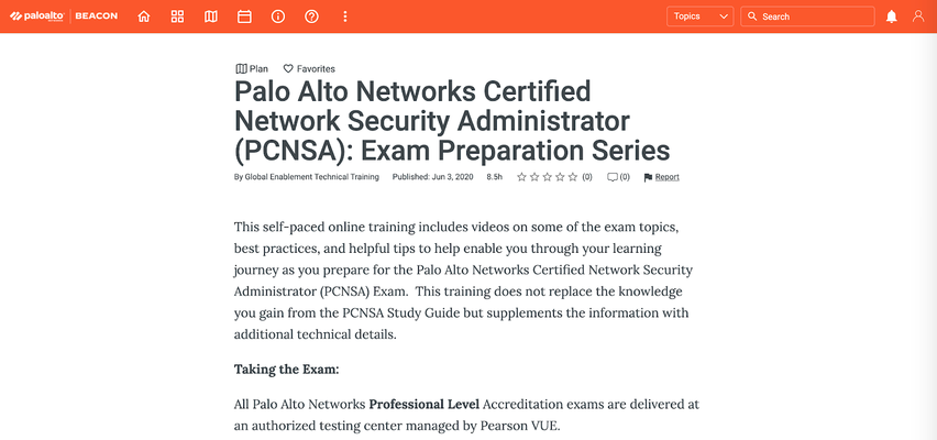 Study for Palo Alto Networks Certified Network Security Administrator (PCNSA) exam