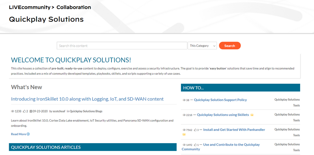 The  Quickplay Solutions page with articles, how-to documents and even videos to help you.