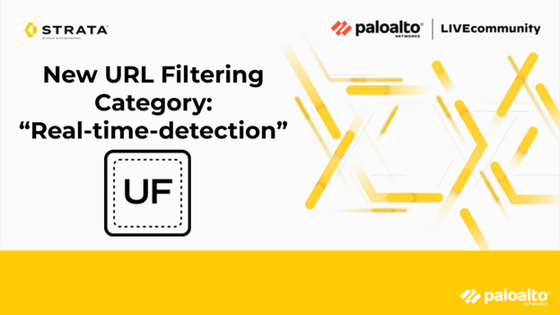 "New URL Filtering Category: ""Real-time-detection"""