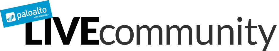 Palo Alto Networks Live Community