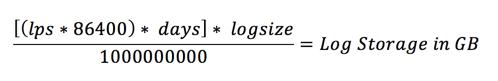 Storage Requirement Calculation